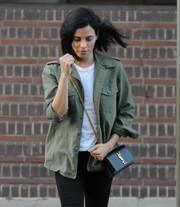 Jenna Dewan-Tatum showed off a Saint Laurent chain-strap bag while stopping by the bank.