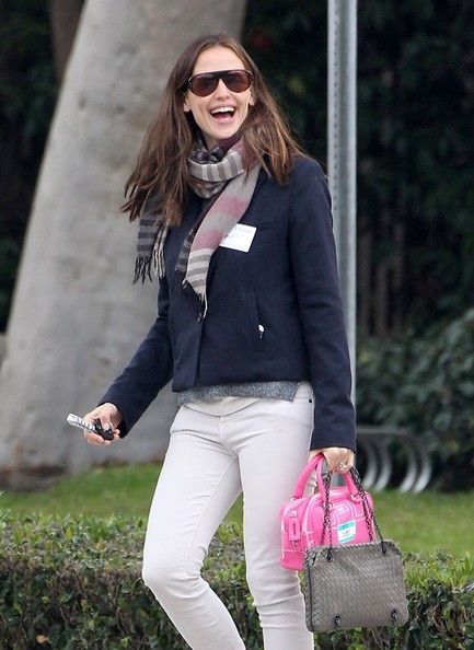 More Pics of Jennifer Garner Skinny Pants (1 of 17) - Jennifer Garner Lookbook - StyleBistro
