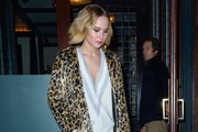 Jennifer Lawrence Fur Coat
