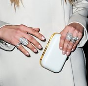 Jennifer Lopez gave a classic a modern twist with this reverse French manicure.