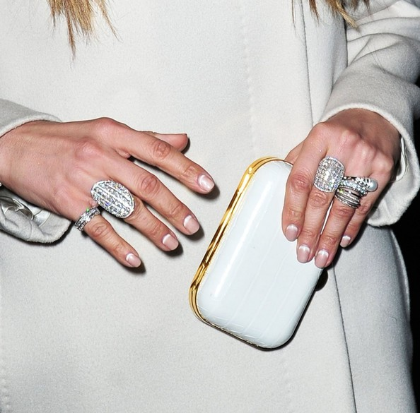 Jennifer Lopez French Manicure