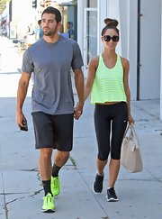 Jesse sported a basic tee while out in LA.