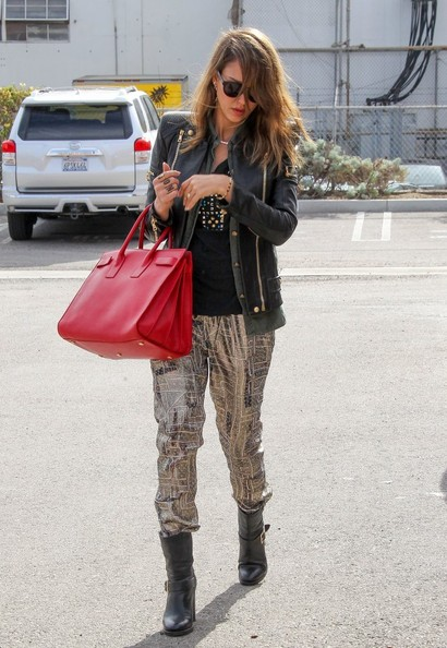 Jessica Alba Motorcycle Boots