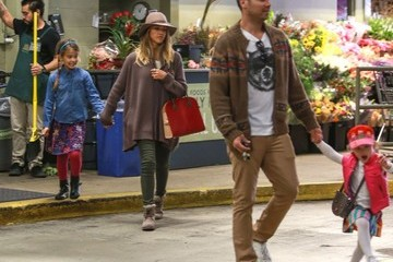 Jessica Alba Cash Warren Jessica Alba & Family Grocery Shopping At Whole Foods