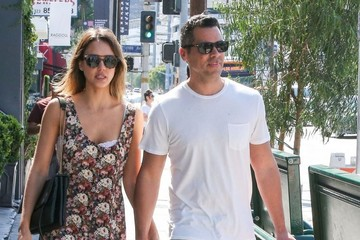 Jessica Alba Cash Warren Jessica Alba and Cash Warren Out Shopping in West Hollywood
