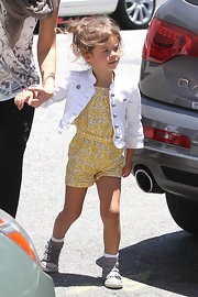 Honor Warren kept it light and bright with a springy yellow romper.