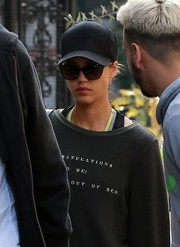 Jessica Alba stepped out for a workout wearing a plain black baseball cap and a pair of shades.