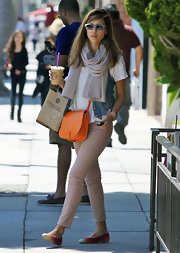 Jessica Alba stepped out in Beverly Hills wearing a pair of multi-colored flats.