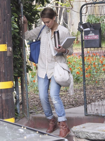 More Pics of Jessica Alba Ankle Boots (1 of 6) - Jessica Alba Lookbook - StyleBistro