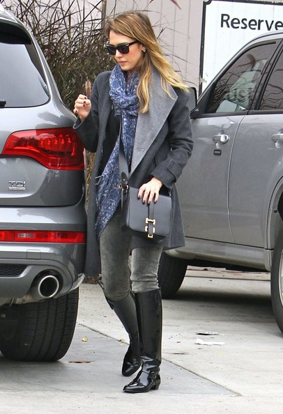 More Pics of Jessica Alba Knee High Boots (1 of 30) - Knee High Boots Lookbook - StyleBistro