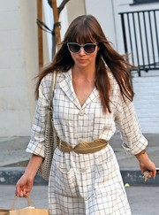 Jessica Biel stopped by Au Fudge wearing super-cool butterfly sunnies by Carolina Herrera.