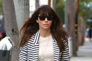 Jessica Biel Rectangular Sunglasses