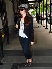 Jessica Biel wore a creative spin on a classic blazer while out in NYC.