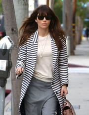 Jessica Biel stepped out for lunch in West Hollywood wearing a pair of rectangular shades.