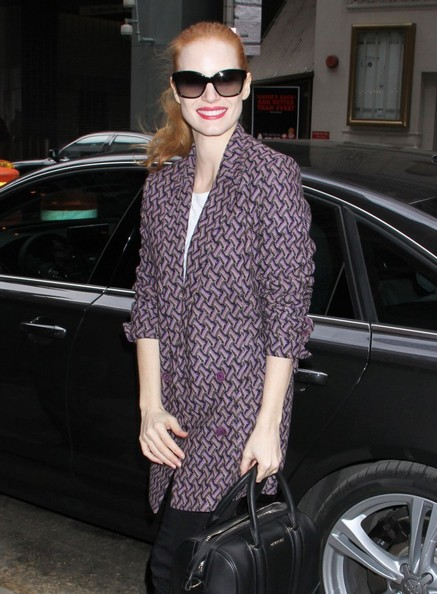 More Pics of Jessica Chastain Skinny Pants (5 of 12) - Jessica Chastain Lookbook - StyleBistro