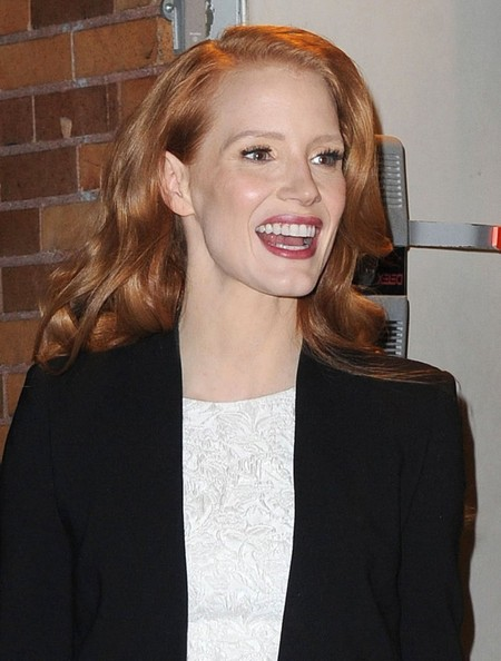 More Pics of Jessica Chastain Long Curls (5 of 19) - Long Hairstyles Lookbook - StyleBistro