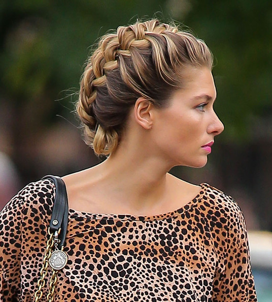 Jessica Hart Updos Braided Updo Dviyn