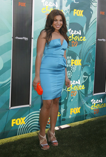 Jordin Sparks Buckled Clutch