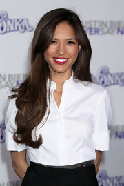 Kelsey Chow kept her layered locks sleek and simple at the 'Justin Bieber:Never Say Never' premiere.