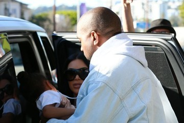 Kanye West Kim Kardashian Kim and Kanye Spend the Day with Daughter North