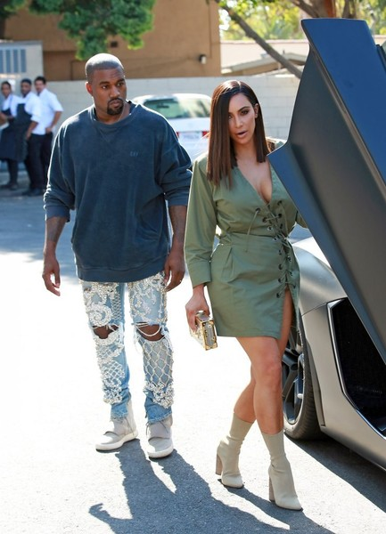 More Pics of Kim Kardashian Mid-Calf Boots (1 of 33) - Boots Lookbook - StyleBistro