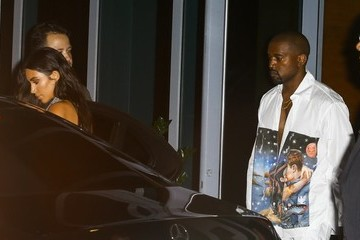 Kanye West Kim Kardashian Kim and Kourtney Kardashian Go Out in Miami