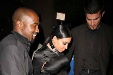 Kanye West Kim Kardashian Celebrities Dine Out at Bouchon Bistro