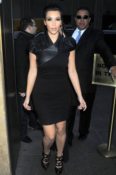 Kim+Kardashian in The Kardashians Arriving At Sirius Satellite Studio