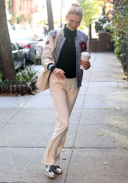 Karlie Kloss Leather Sneakers