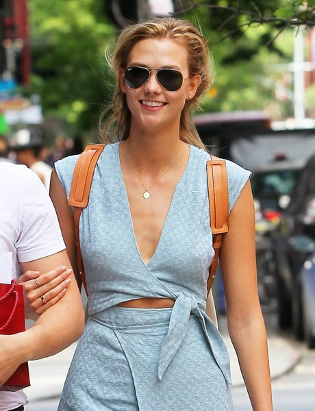 Karlie Kloss Aviator Sunglasses