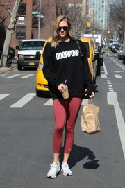 Karlie Kloss was spotted out in New York City dressed down in a black 'Dogpound' sweatshirt.