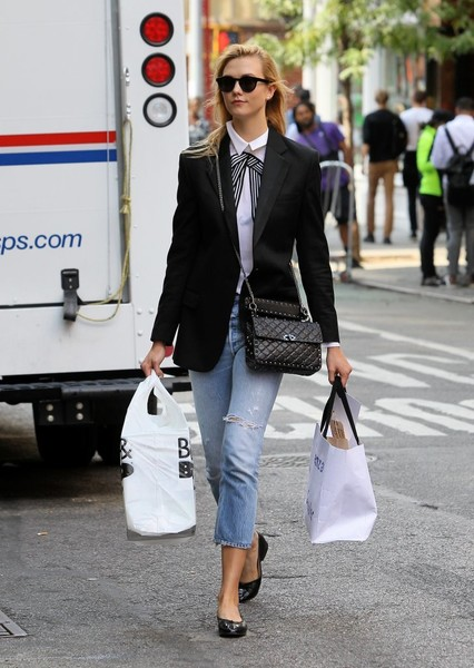 Karlie Kloss Studded Shoulder Bag
