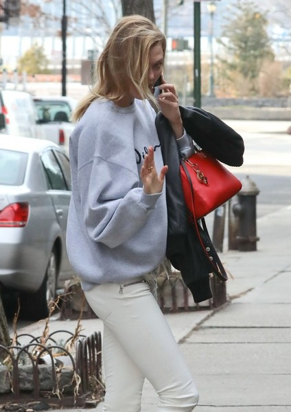 Karlie Kloss Leather Tote []