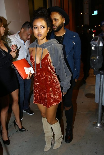 Karrueche Tran Knee High Boots