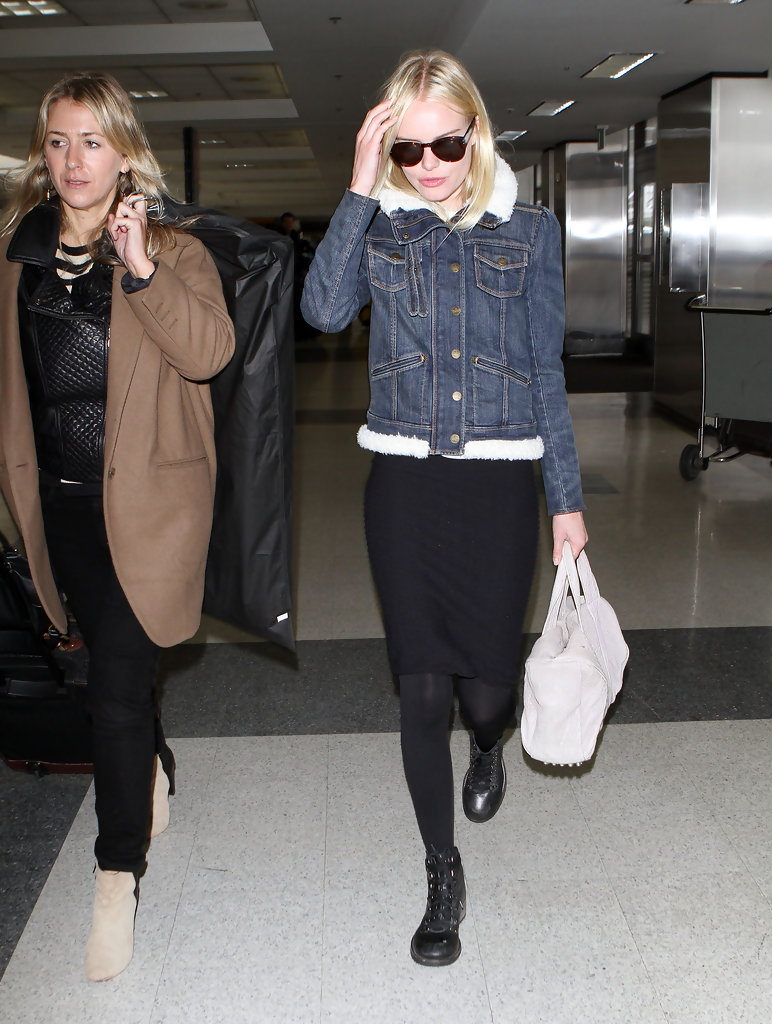 Actress Kate Bosworth arrives at LAX airport to catch a flight out of Los Angeles.