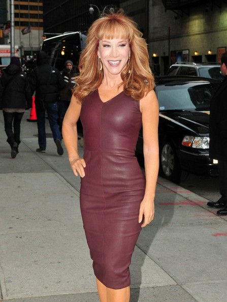More Pics of Kathy Griffin Leather Dress (1 of 10) - Leather Dress Lookbook - StyleBistro