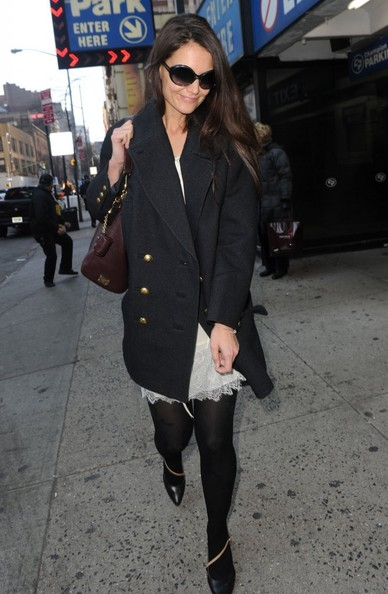 More Pics of Katie Holmes Tights (1 of 16) - Katie Holmes Lookbook - StyleBistro