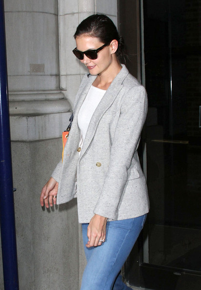 More Pics of Katie Holmes Flare Jeans (2 of 3) - Jeans Lookbook - StyleBistro []