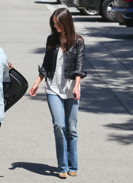 Katie Holmes Leather Jacket