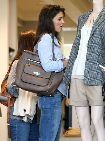 Katie Holmes Leather Tote []