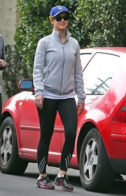 Katy Perry looked ready to run in these athletic leggings, which she sported for a morning hike in California.