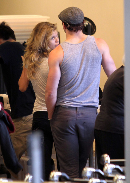 AnnaLynne McCord And Kellan Lutz Arriving For A Flight At LAX