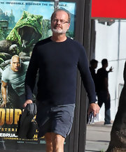 Kelsey Grammer looked low-key in his black crewneck sweater as he picked up his violin in Hollywood.