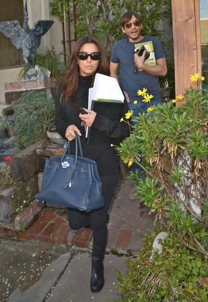 Eva Longoria Leaving The Ken Paves Salon