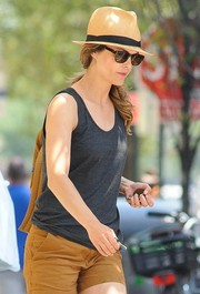 Keri Russell kept the sun out with a pair of wayfarers while strolling in New York City.