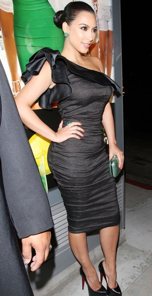 Kim Kardashian One Shoulder Dress