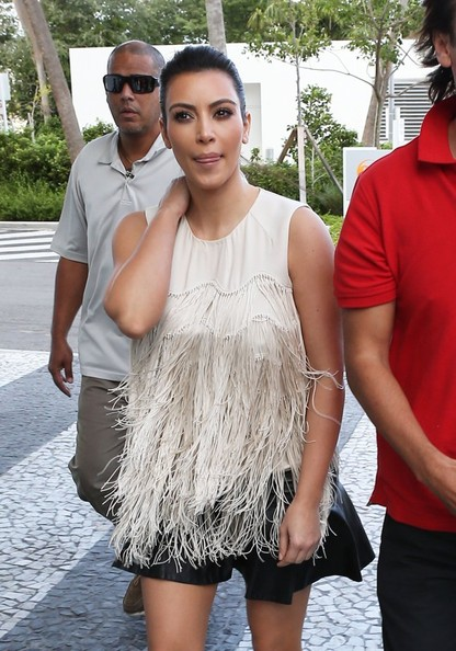 Kim Kardashian Grabs Lunch With Her Pal Jonathan In Miami
