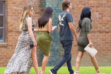 Kim Kardashian Jonathan Cheban The Kardashian Clan Out in Watermill