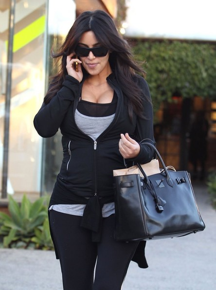 More Pics of Kim Kardashian Leather Tote (1 of 25) - Tote Bags Lookbook - StyleBistro