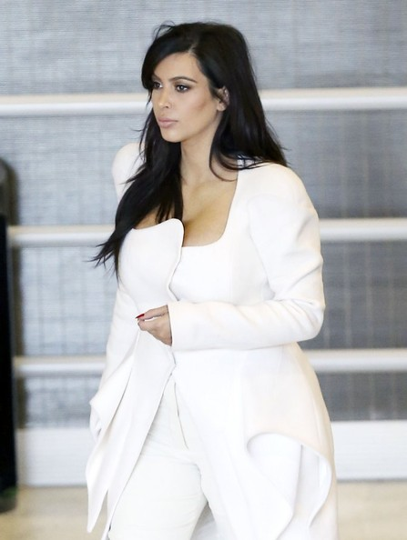 More Pics of Kim Kardashian Fitted Jacket (5 of 9) - Kim Kardashian Lookbook - StyleBistro